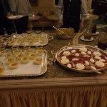 Das Dessertbuffett an einem Abend