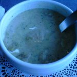 cream soup with vegetables. Excellent taste