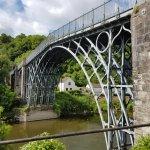 Up close Iron Bridge in Ironbridge