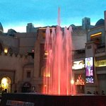 fountain outside Saxe Theatre