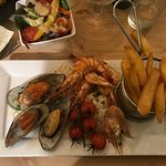 Mixed shellfish & chips