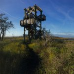 Viewing tower in the Guana Wildlife Management Area.