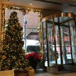 A decoração de Natal do lugar arrasa!