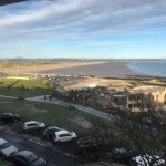 View from Room Ardmore on Sat 20th Jan 2018 West Beach & the Old Course.