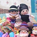 Otavalo dolls at the Saturday Market.
