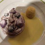Blueberry tart...amazing.