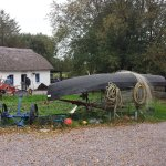 The little potato field and farming and fishing tools