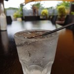 Nice vodka and lemonade with lunch