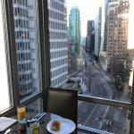 Vista do café da manhã.