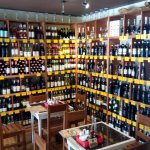 Inside wine room
