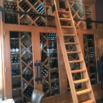The wine cabinet
