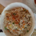 Caramelized onion fried rice with vegetables