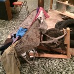 Make your own chair with a wheel barrow! Home is where the chair is!