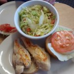 Grilled Chicken Sandwich And Salad