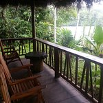 The balcony of one of our river bungalows offer guests this beautiful landscape