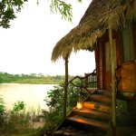 River bungalows offer you a stonishing view of the Amazon landscape.