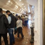Line for restaurant