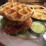 Chicken and Waffle Club Sandwich