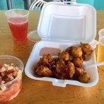 Lobster, fritters, conch salad radler, beer!