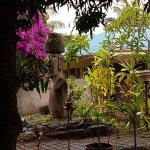 jardines en un día de lluvia