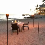 Table for two overlooking the sea!