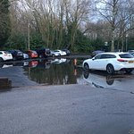 Flooded carpark