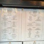 1810 Argentinean Restaurant - Menu