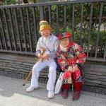 Hip, young Japanese couple enjoying Nakamise-dori