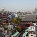View of Sensoji temple