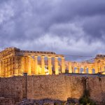 View of the Acropolis from the rooftop terrace