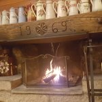 Cosy fire in the bar area