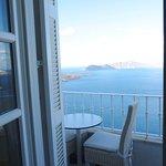 Caldera view on tiny balcony