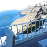 Caldera view towards Fira with air-conditioning unit taking up space!