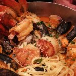 Cioppino - Excellent choice, nice fresh seafoods, and generous.