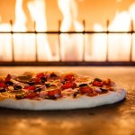 Brick fired pizza