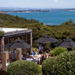 Mudbrick restaurant looking back to Auckland