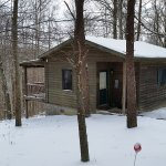 Our little cabin in the woods looks very rustic but inside it is luxurious and cozy,