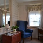 Our suite included a sitting room that looked out over the side yard - very comfy area