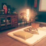 Thai yoga massage room