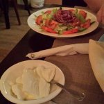 salad and yoghurt