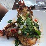 Maldivian curried local lagoon lobster