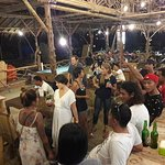 party on last weekend on new places of bamboo cafe & resto Pangandaran