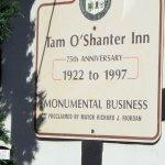 sign for Tam O'Shanter restaurant