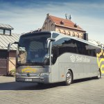 In our fleet, there is also a coach - a modern 2017 Mercedes-Benz Tourismo.