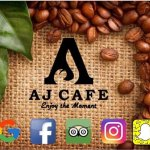 "You can now, search, find&review us! Found us where?...... Everywhere!   AJ CAFE, ""Enjoy the mom"