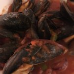 Mussels in a rich tomato sauce