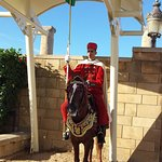 royal guarde on horse infront of the entrance