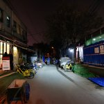 Hotel is on the left in hutong