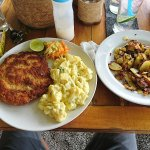 Schnitzel mit Kartoffelsalat und Bratkartoffeln 👍😁
