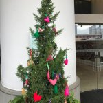 Christmas Tree at entrance - the plush decorations are made by the Housekeeping Staff, in-house!